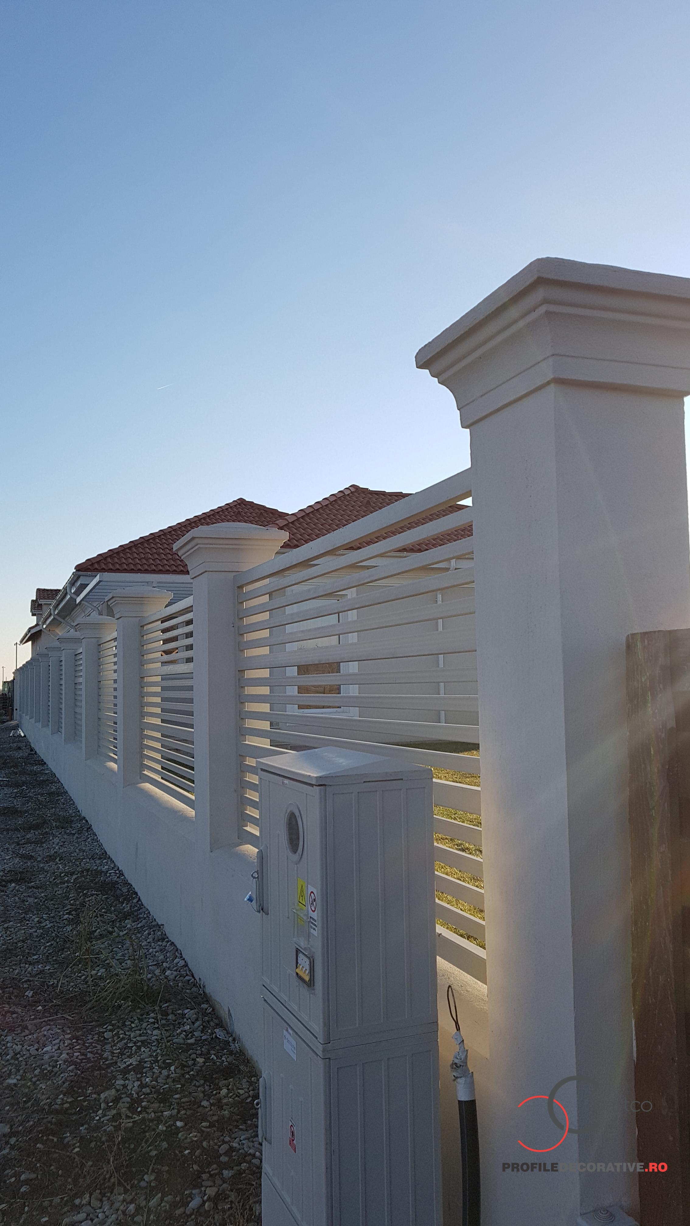 Gard decorativ cu elemente arhitecturale, pret casa de vanzare Tamas, Corbeanca